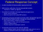 federal response concept