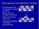 multi agency coordination centers