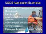 uscg application examples