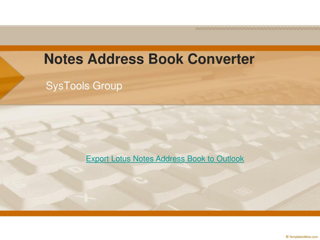 notes address book converter l.