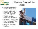 what are green collar jobs
