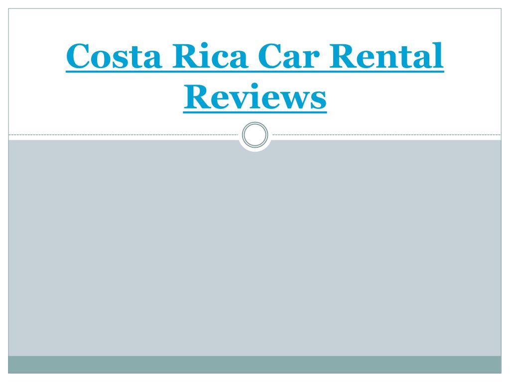 costa rica car rental reviews l.