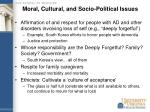 moral cultural and socio political issues