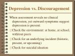 depression vs discouragement