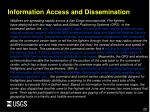 information access and dissemination
