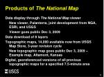 products of the national map