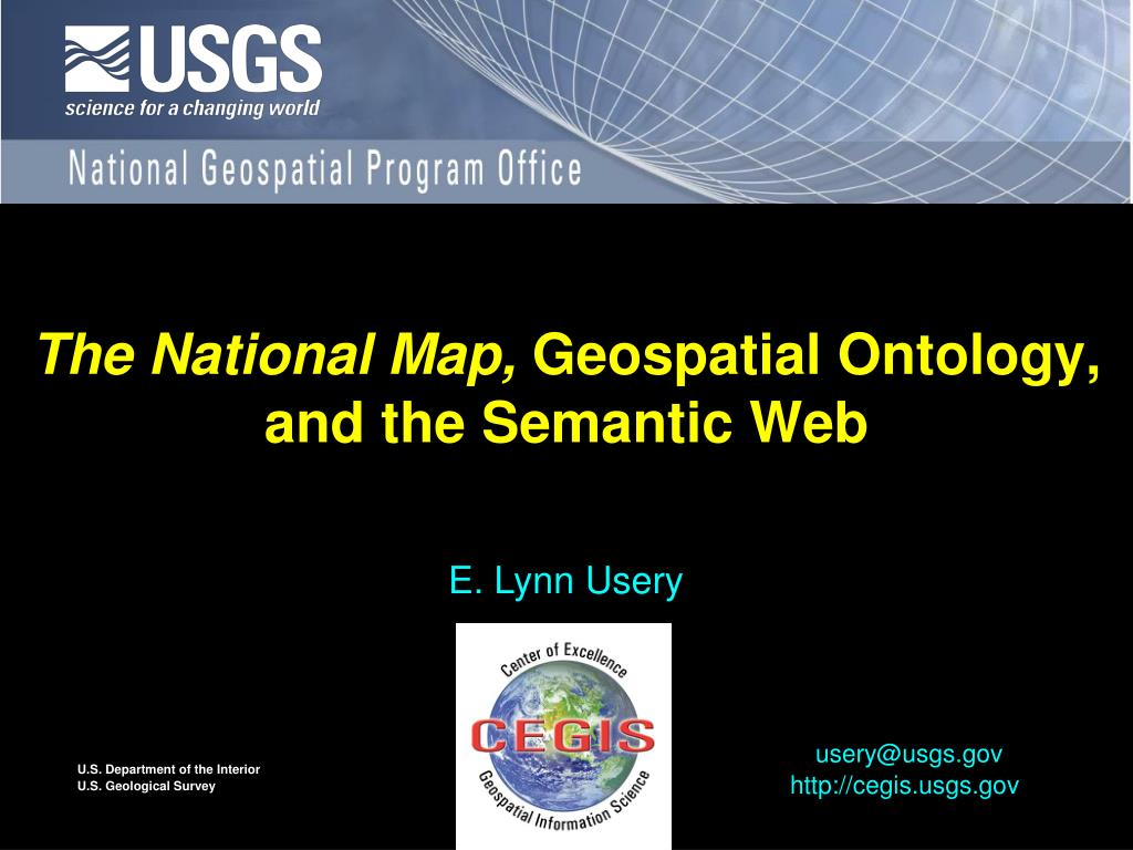 the national map geospatial ontology and the semantic web l.