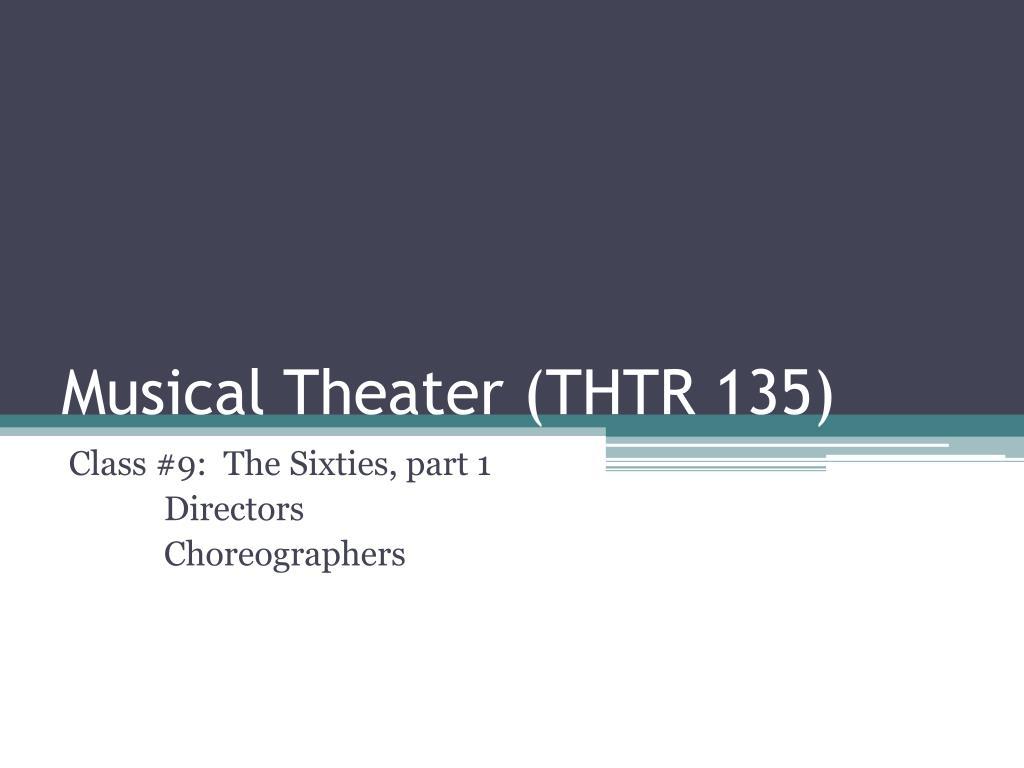 musical theater thtr 135 l.