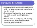 computing ff effects