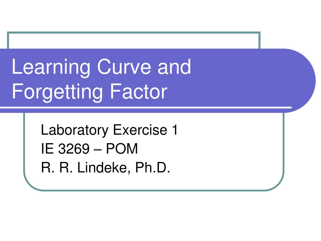 learning curve and forgetting factor l.