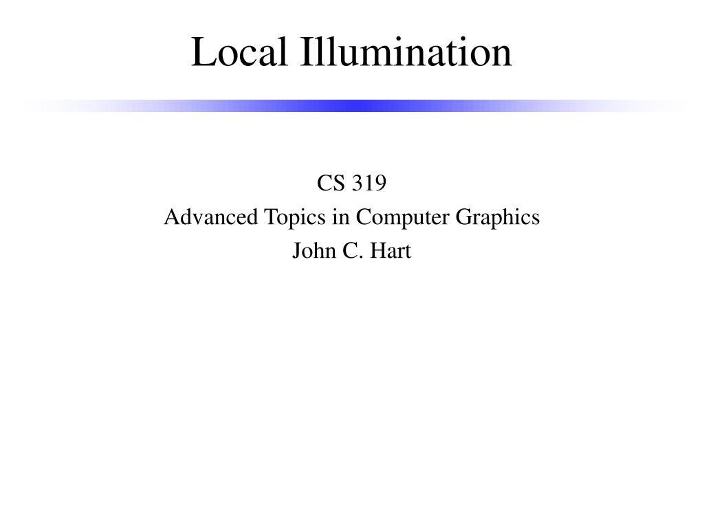 local illumination l.