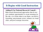 it begins with good instruction1