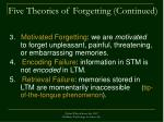 five theories of forgetting continued27