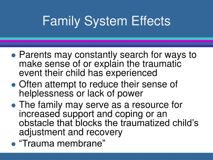 Family System Effects