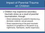 impact of parental trauma on children