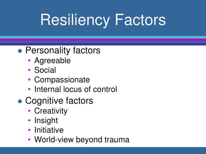 Resiliency Factors