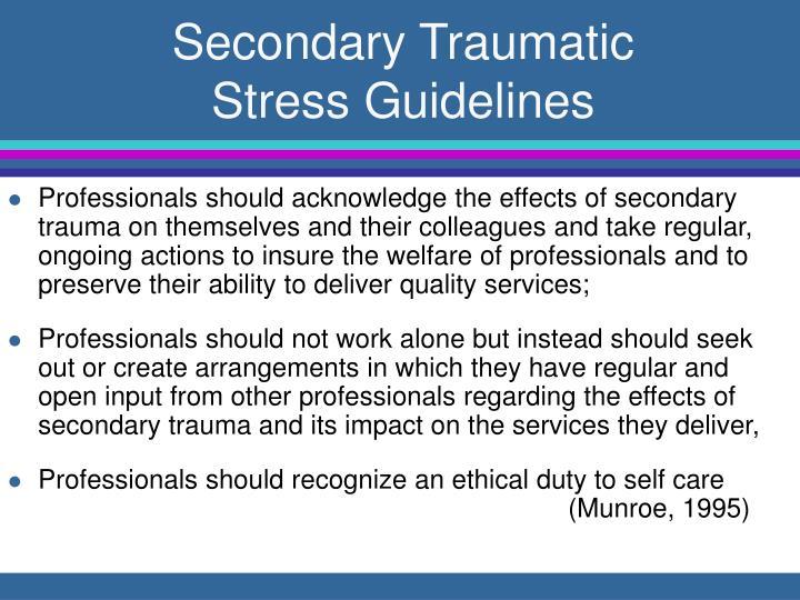 Secondary Traumatic