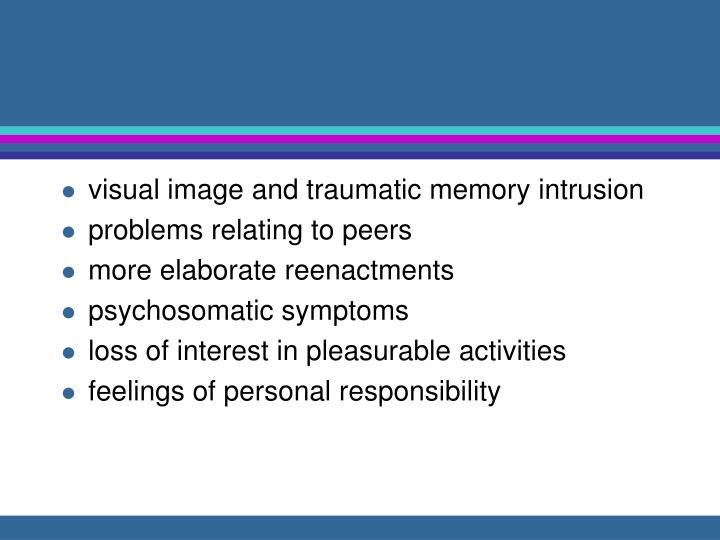visual image and traumatic memory intrusion