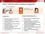 case 1 ivr flow without database integration