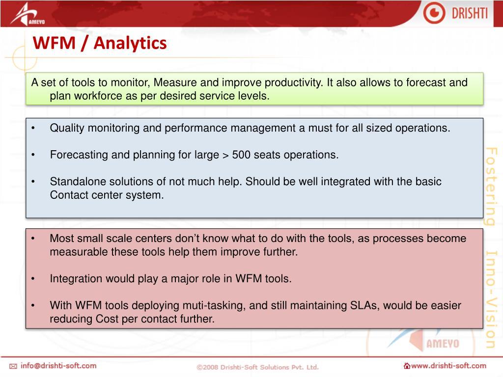 WFM / Analytics