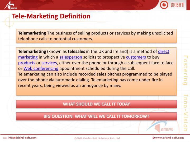 Tele-Marketing Definition