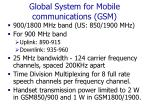global system for mobile communications gsm