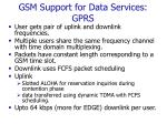gsm support for data services gprs