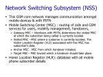 network switching subsystem nss