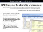 qad customer relationship management