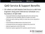 qad service support benefits
