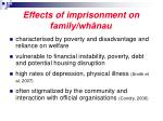 effects of imprisonment on family wh nau