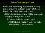 below cost salvage sales
