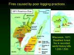 fires caused by poor logging practices