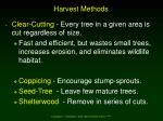 harvest methods