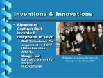 inventions innovations