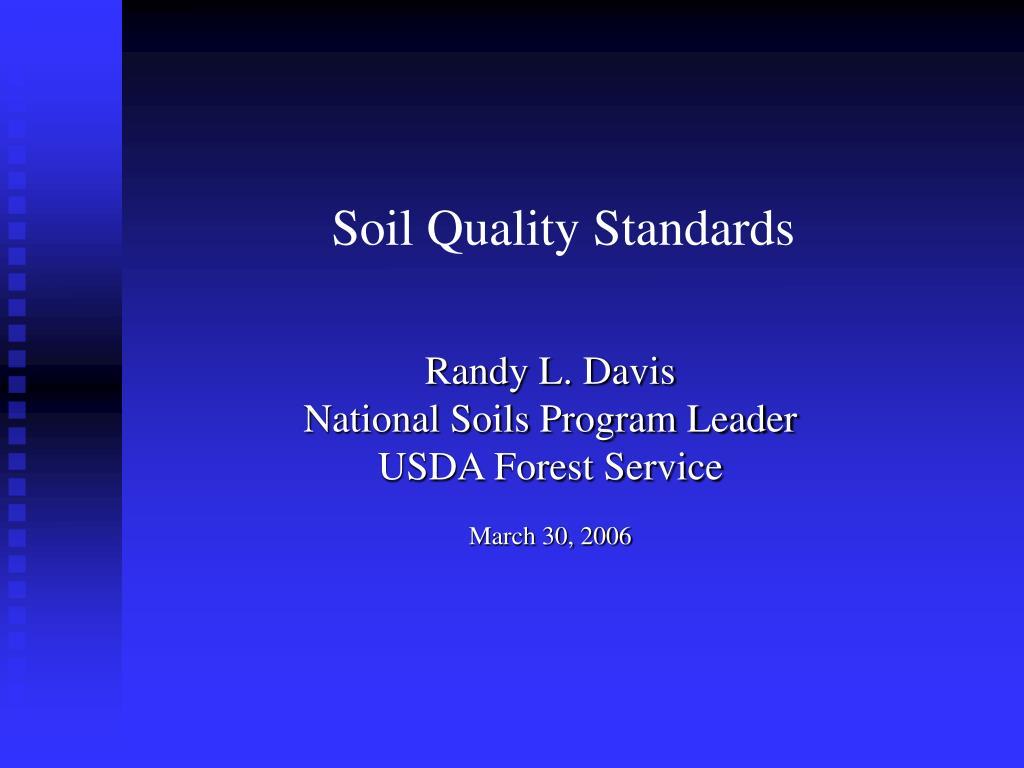 soil quality standards l.