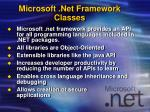 microsoft net framework classes