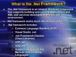 what is the net framework