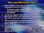 why use microsoft net