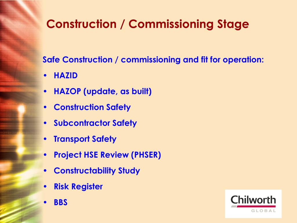 Construction / Commissioning Stage