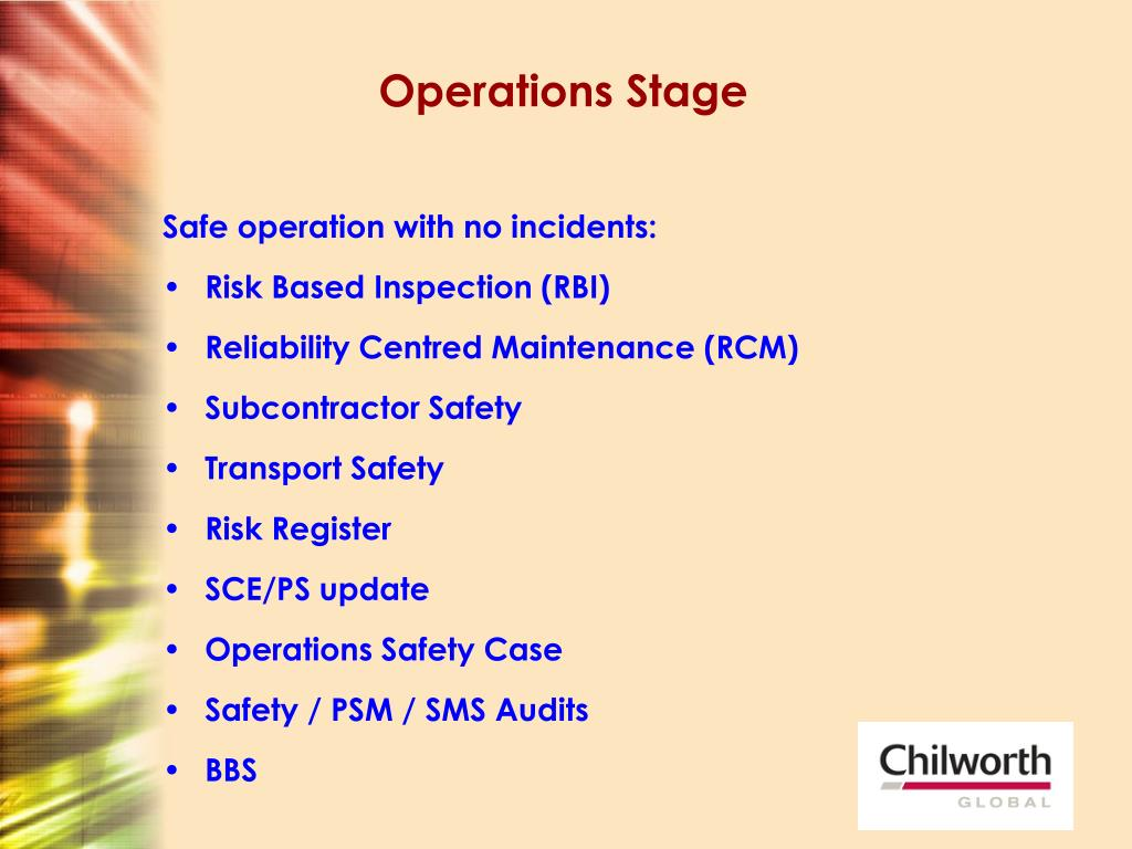 Operations Stage