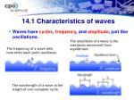 14 1 characteristics of waves