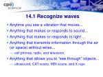 14 1 recognize waves