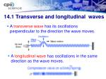 14 1 transverse and longitudinal waves