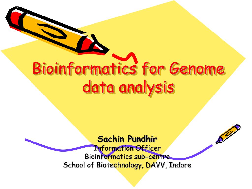 bioinformatics for genome data analysis l.