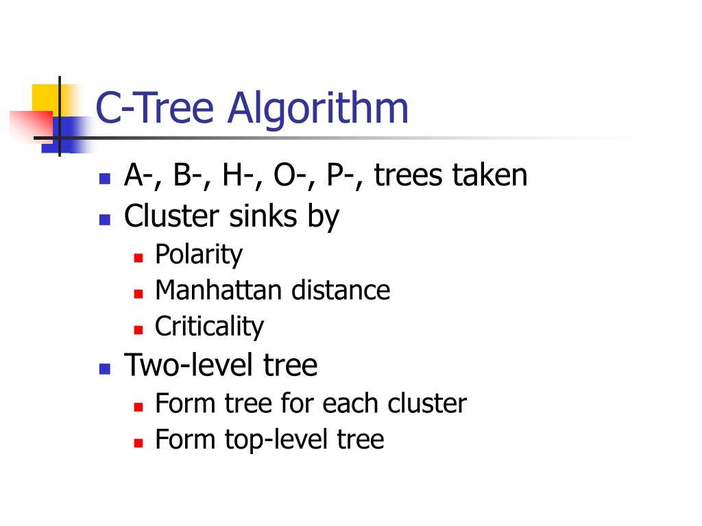C-Tree Algorithm