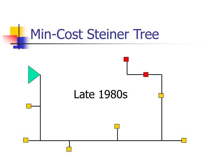 Min cost steiner tree