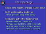 the discharge
