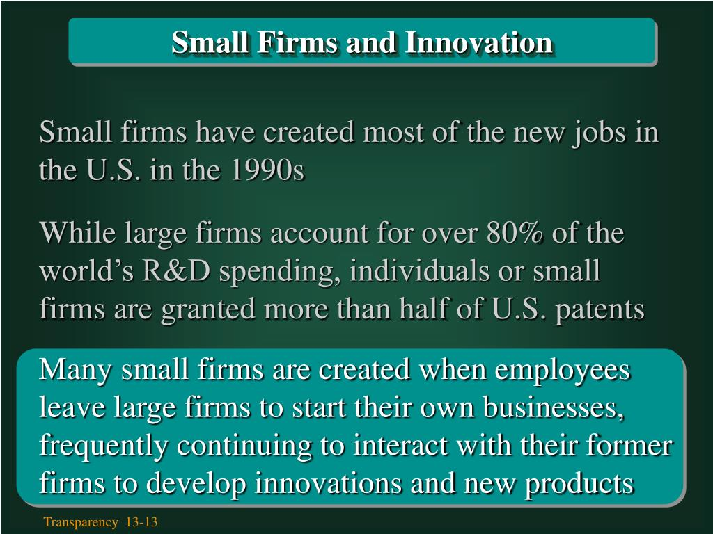 Small Firms and Innovation