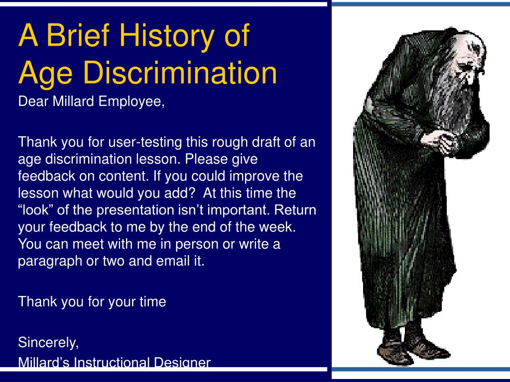 a brief history of age discrimination l.